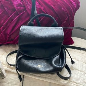 Coach Leather Convertible Backpack